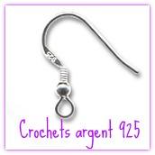 Crochets D Oreilles Argent 925 Boutique Www Mimifanfreluches Com